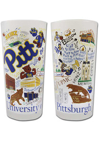 Pitt Panthers Illustrated Frosted Pint Glass