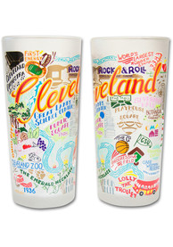 Cleveland 15oz Illustrated Frosted Pint Glass