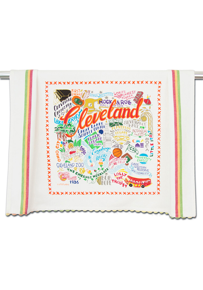 Cleveland Printed and Embroidered Towel - Image 1