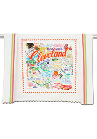 Cleveland Printed and Embroidered Towel
