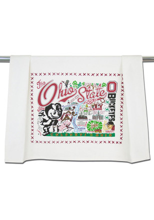 Ohio State Buckeyes Printed and Embroidered Towel