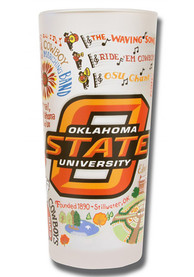 Oklahoma State Cowboys 15oz Illustrated Frosted Pint Glass