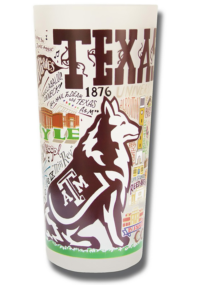 Texas A&M Aggies 15oz Illustrated Frosted Pint Glass - Image 1