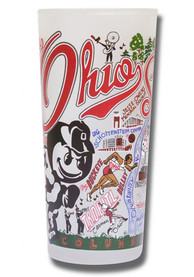 Ohio State Buckeyes 15oz Illustrated Frosted Pint Glass