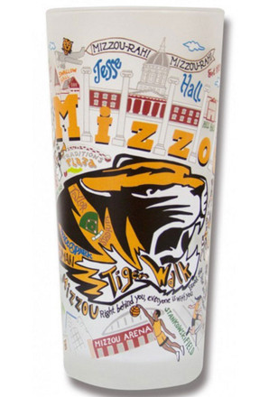 Missouri Tigers 15oz Frosted Pint Glass