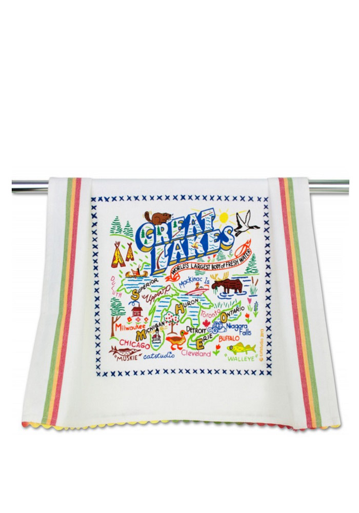 Great Lakes Embroidered Dish Towel - Image 1