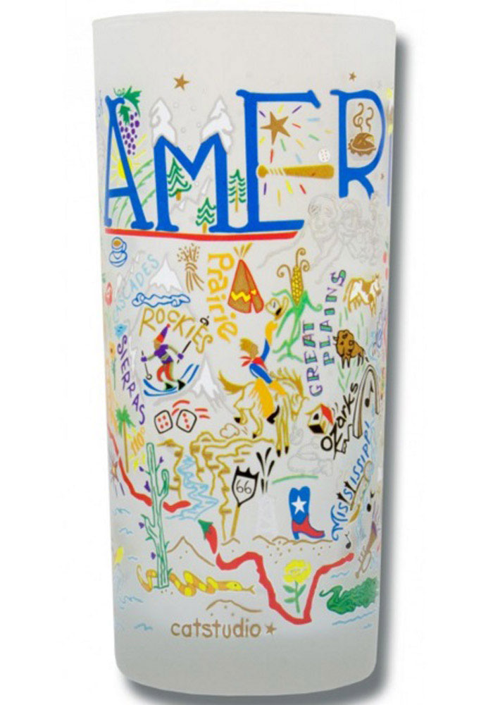 America 15oz Illustrated Frosted Tumbler - Image 1