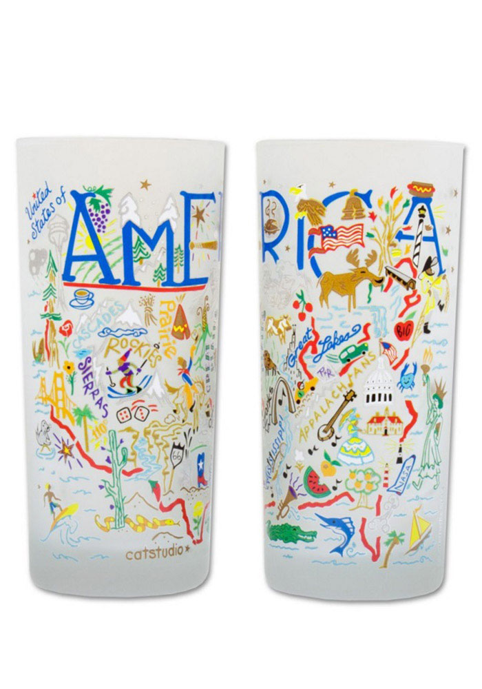 America 15oz Illustrated Frosted Tumbler - Image 2