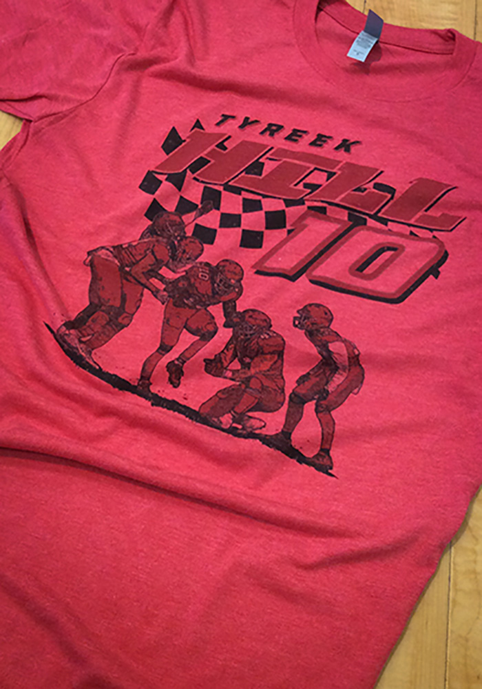 Tyreek Hill Kansas City Chiefs Red Pit Stop Short Sleeve Fashion Player T Shirt - Image 2