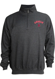 17900ad0c85 Los Angeles Angels Grey Stitches Mock Neck Pullover 1 4 Zip Pullover