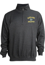 1f3788a90 Oakland Athletics Grey Stitches Mock Neck Pullover 1 4 Zip Pullover