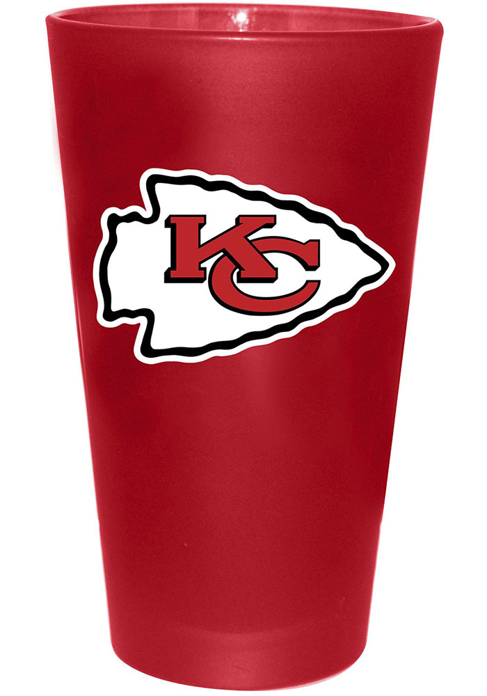 Kansas City Chiefs Frosted Team Pint Glass - Image 1