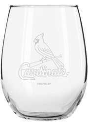 St Louis Cardinals 15oz Etched Stemless Wine Glass