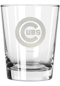 Chicago Cubs 15oz Etched Rock Glass
