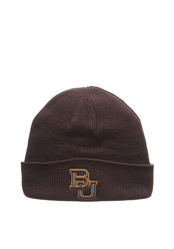Zephyr Baylor Bears Grey Pop Mens Knit Hat - Image 1
