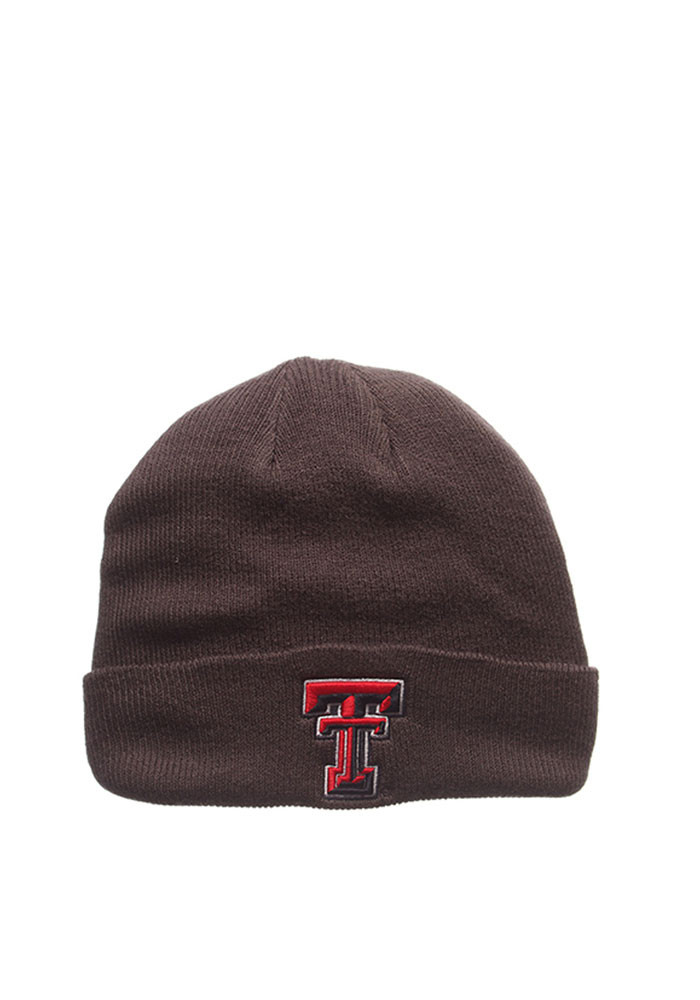 Zephyr Texas Tech Red Raiders Grey Pop Mens Knit Hat - Image 1