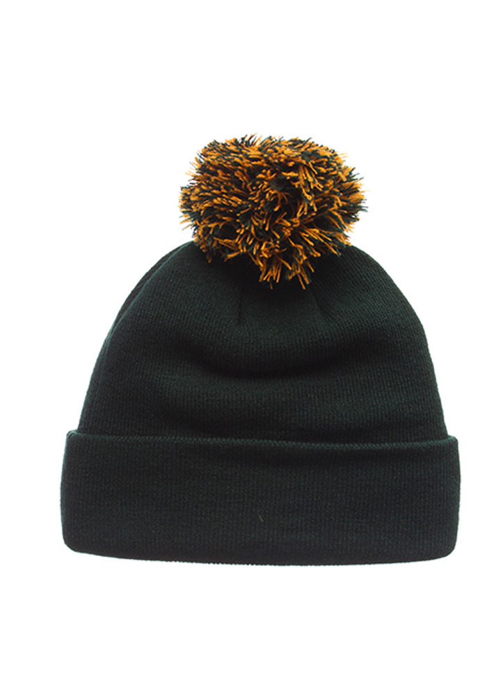Zephyr Baylor Bears Green Pom Mens Knit Hat - Image 2