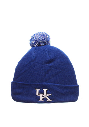 Zephyr Kentucky Wildcats Blue Pom Knit Hat
