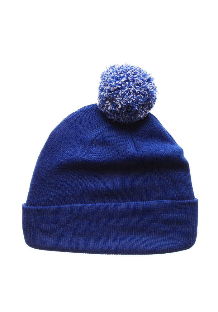 Zephyr Kentucky Wildcats Blue Pom Mens Knit Hat - Image 2