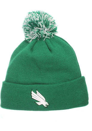 Zephyr North Texas Mean Green Green Pom Knit Hat