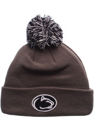 Penn State Nittany Lions Zephyr Pom Knit - Charcoal