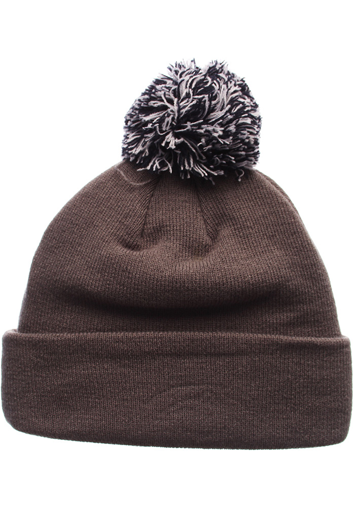 Zephyr Penn State Nittany Lions Charcoal Pom Mens Knit Hat - Image 2