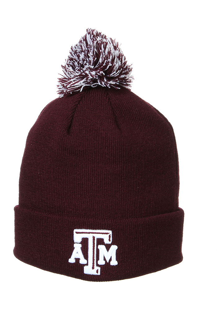 Texas A&M Aggies Zephyr Pom Knit - Maroon