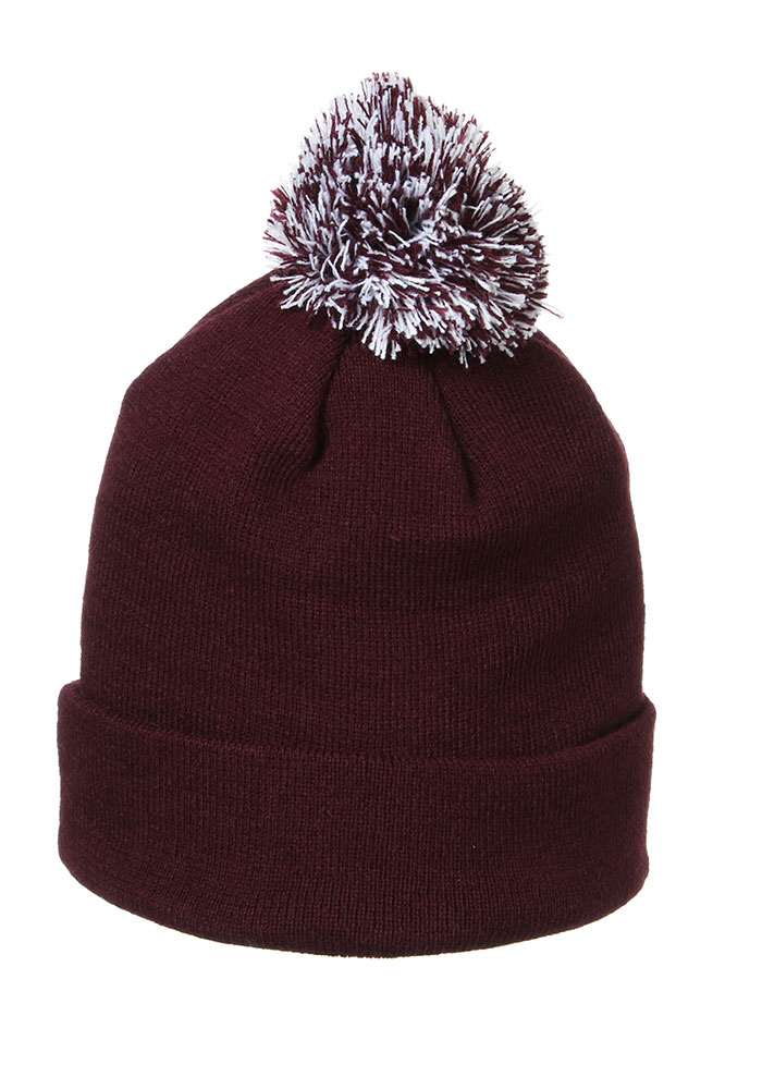 Zephyr Texas A&M Aggies Maroon Pom Mens Knit Hat - Image 2