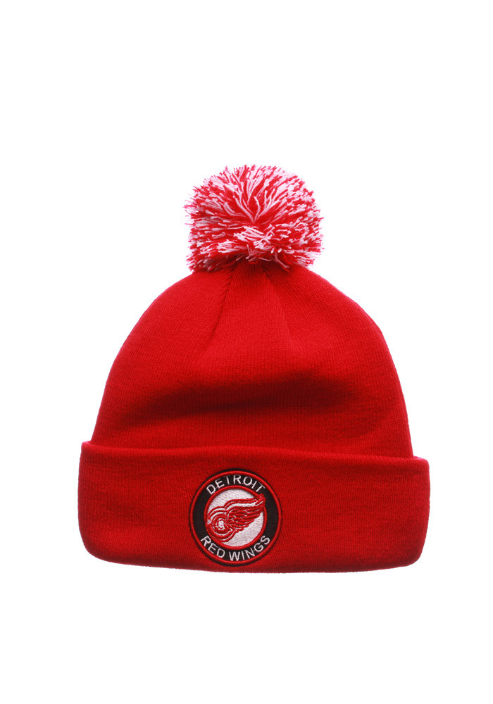 Zephyr Detroit Red Wings Red Seal Mens Knit Hat - Image 1