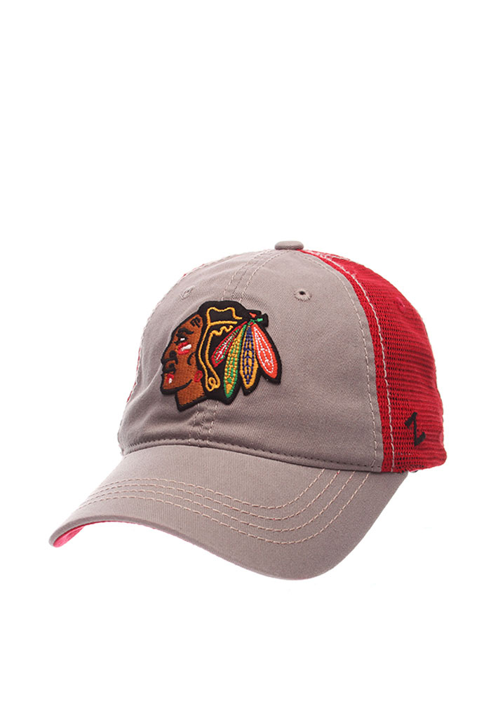 Zephyr Chicago Blackhawks Stratus Adjustable Hat - Grey