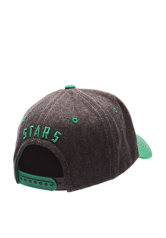 zephyr dallas stars anchorage adjustable hat grey 5350956 rally house