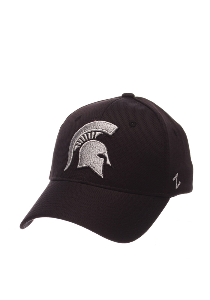 Zephyr Michigan State Spartans Mens Black Synergy Flex Hat - Image 1