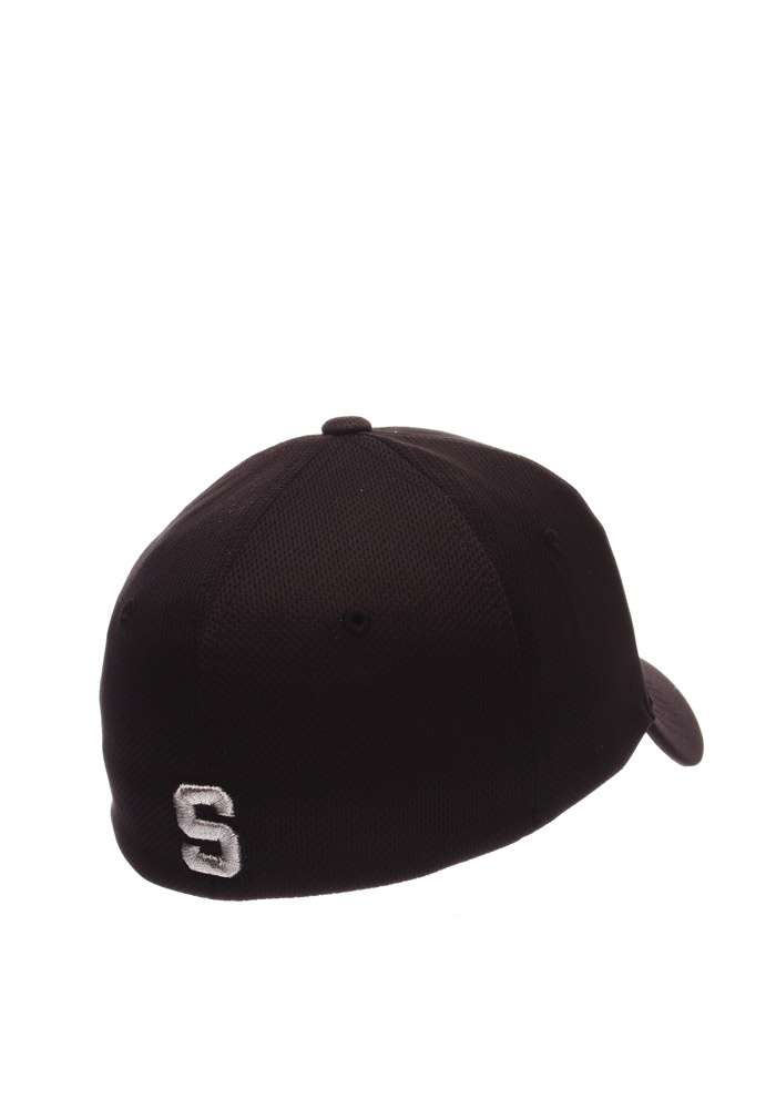 Zephyr Michigan State Spartans Mens Black Synergy Flex Hat - Image 2