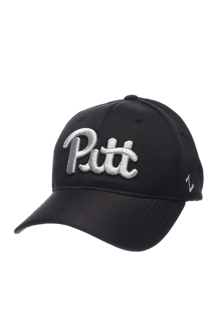 Zephyr Pitt Panthers Mens Black Synergy Flex Hat - Image 1