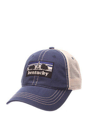 Zephyr Kentucky Wildcats Mens Blue Landmark Meshback Adjustable Hat