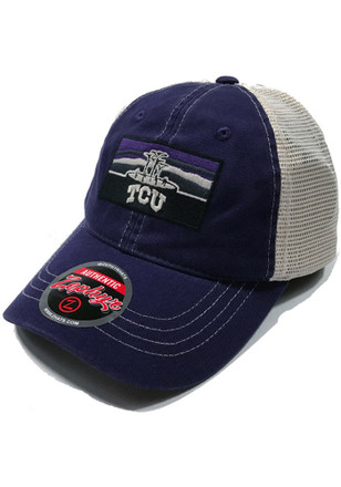 Zephyr TCU Horned Frogs Mens Purple Landmark Meshback Adjustable Hat