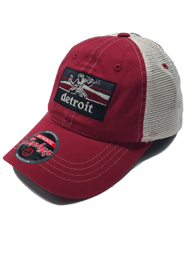 super cute 282da d0a71 ... italy zephyr detroit red wings mens red landmark meshback adjustable hat  fe0a2 3742e