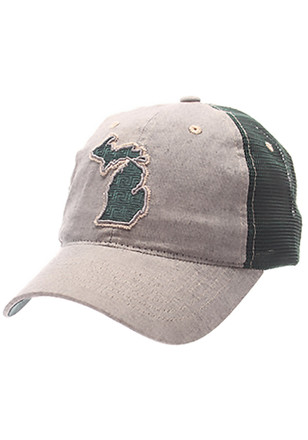 Zephyr Michigan State Spartans Mens Grey Alumnia State Adjustable Hat