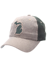 Michigan State Spartans Zephyr Alumnia State Adjustable Hat - Grey