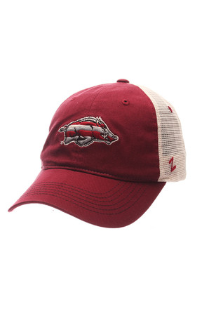 Zephyr Arkansas Razorbacks Mens Crimson Contour Adjustable Hat