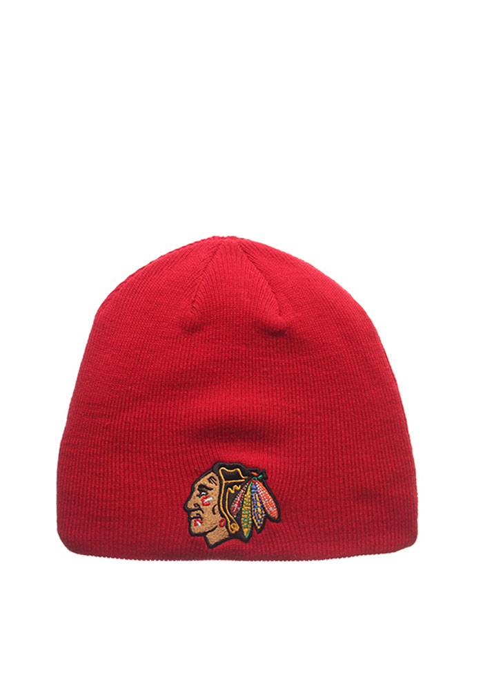 Zephyr Chicago Blackhawks Red Edge Beanie Mens Knit Hat - Image 1