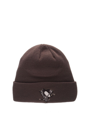 Zephyr Pittsburgh Penguins Grey Pop Cuff Knit Hat