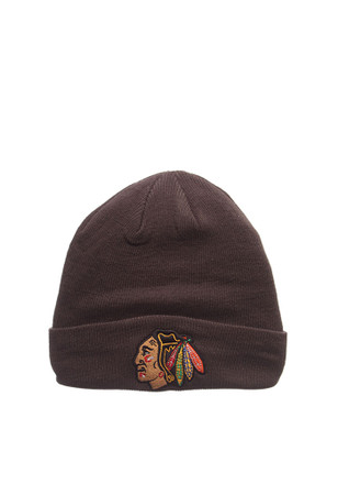 Zephyr Chicago Blackhawks Grey Pop Cuff Knit Hat