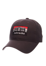 Zephyr Nebraska Cornhuskers Mens Grey Landmark Adjustable Hat