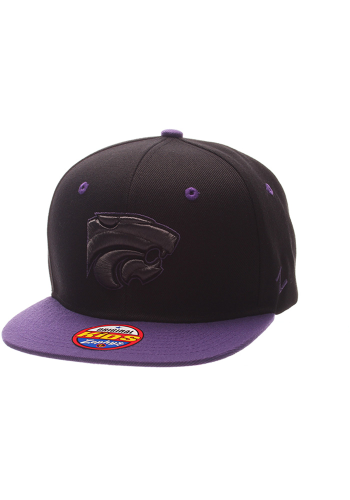 the best attitude 66e12 24afd ... italy zephyr k state wildcats youth black z11 phantom snapback hat  90b8c 52edf