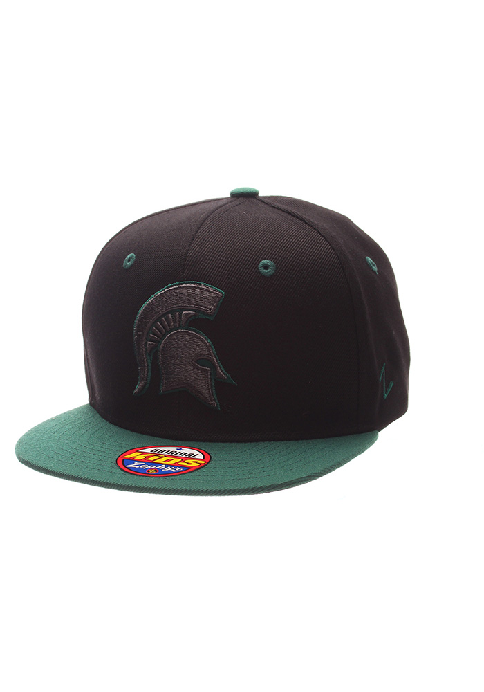 Zephyr Michigan State Spartans Black Z11 Phantom Youth Snapback Hat