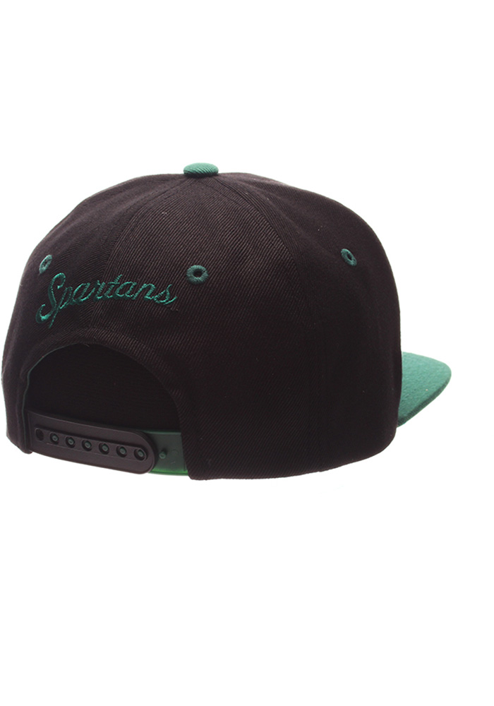 Michigan State Spartans Black Z11 Phantom Youth Snapback Hat - Image 2
