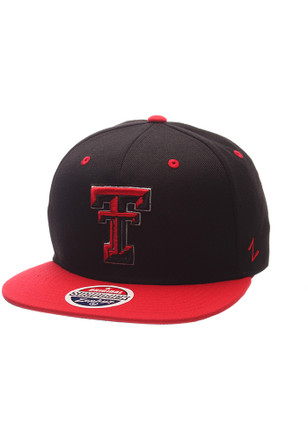 Zephyr Texas Tech Red Raiders Mens Black Z11 Phantom Snapback Hat