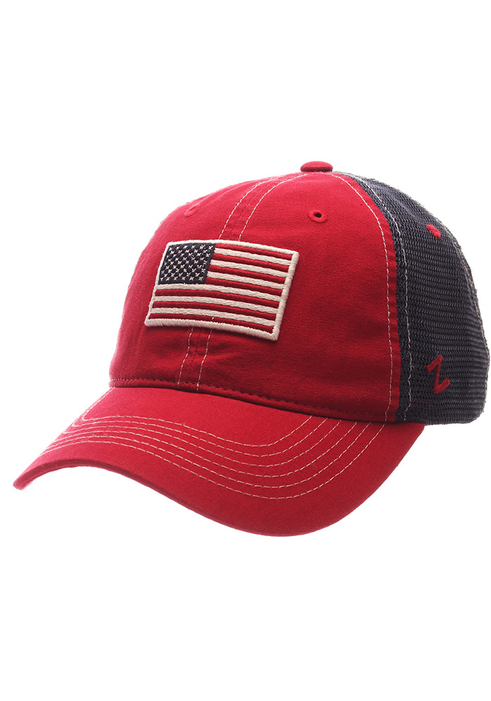 Team USA Mens Red Flag Adjustable Hat - Image 1