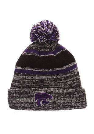Zephyr K-State Wildcats Grey Granite Knit Hat